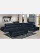 Layla Black U1192 2pce Chaise Fabric Lounge Suite