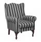 Ascot Wingback Grey Stripe
