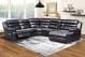 Cavendish 6pce Chaise Corner Fabric Lounge Suite Black