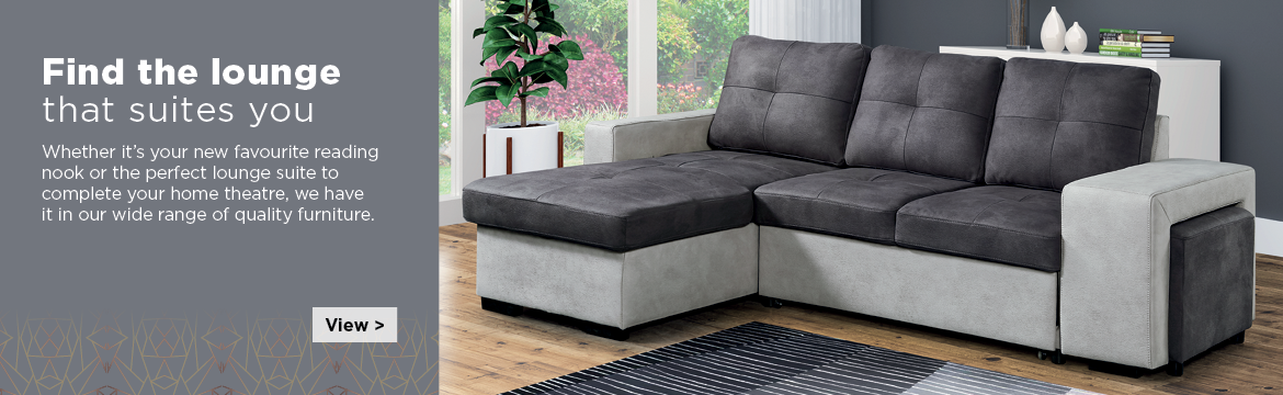 Whether it's your new favourite reading nook or the perfect lounge suite or tv stand complete your home theatre, we have it in our wide range of quality lounge furniture.